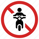 ban, bike forbidden, motorcycle prohibited, no motorbike, not allowed, stop sign, transportation icon