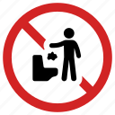 banned, forbidden, prohibited, prohibition sign, stop trash, throwing in toilet, warning