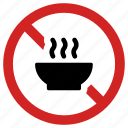 banned, food, forbidden, no meal, not allowed, prohibited, prohibition sign