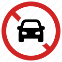 ban, car forbidden, no parking, not allowed, sign, vehicle prohibited icon