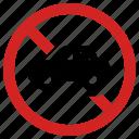 no car, parking prohibition, prohibited, transportation, vehicle forbidden icon