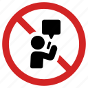 ban, forbidden, no texting, prohibition, stop sign, texting prohibited icon