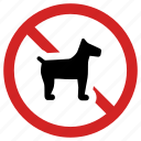 animal prohibition, banned sign, forbidden, no dog, pet prohibited icon