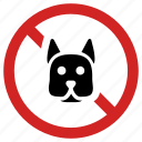 animal prohibited, ban sign, dog, forbidden, no puppy, prohibition icon