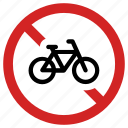 banned, bicycle forbidden, no bike, prohibited, ride not allowed, stop sign