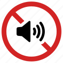 audio off, blocked volume, mute, no sound, silence, silent icon