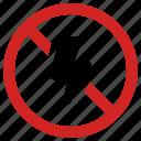 camera, flash, forbidden, no lightning, prohibited icon