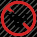 drone, forbidden, prohibited, prohibition, quadcopter icon
