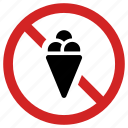 banned, forbidden, ice cream, no dessert, not allowed, prohibited icon