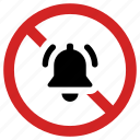 alarm off, blocked bell, no sound, noise prohibited, prohibition, ringtone forbidden icon
