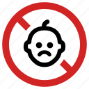 adult area, blocked, child not allowed, forbidden, kids banned, no baby, prohibited icon