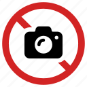 ban pictures, camera prohibited, forbidden, no photo, prohibition icon