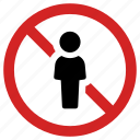 access forbidden, man banned, no entrance, no entry, people prohibited, stop icon