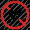 ban, blocked heart, forbidden sign, heartbeat, medical, no cardio, prohibited