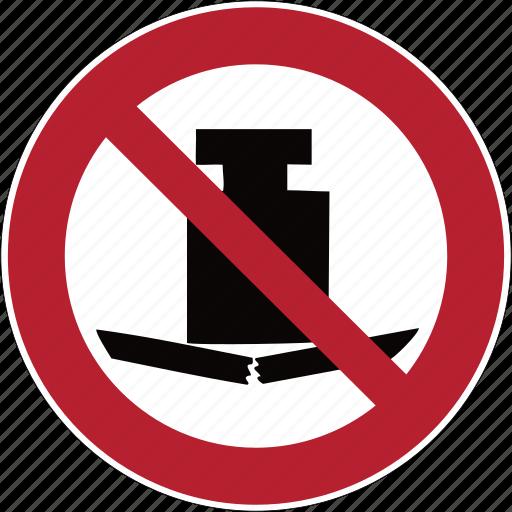 broken, caution, danger, hazard, heavy, load, strong icon