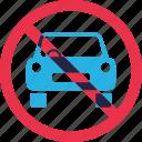 ban, car, forbidden, parking, prohibition, warning icon