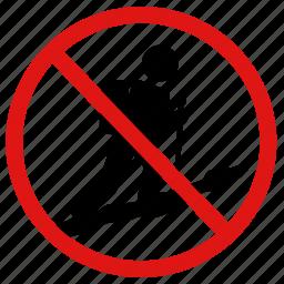 hiking, no, prohibited, trekking, walking icon