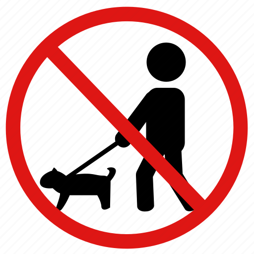 dogs, no, no pets, pets, prohibited icon