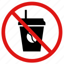 coffee, drinking, drinks, no, prohibited