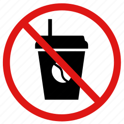coffee, drinking, drinks, no, prohibited icon