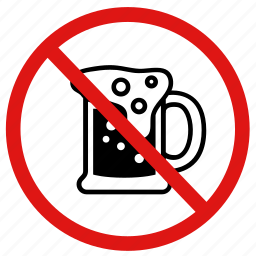 alcohol, no, no beer, no drinking, prohibited icon