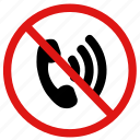 call, calling, no, prohibited, reception, service, signal icon