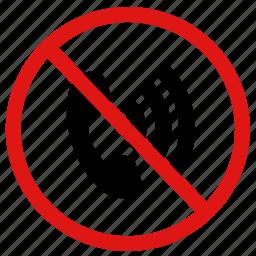 call, calling, no, prohibited, reception, service, signal icon