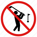 field, golfing, no golf, prohibited, prohibition icon