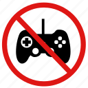 no games, no gaming, no xbox, prohibited area icon