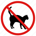 animals, ban, no, no cats, no pets, pets, prohibited icon