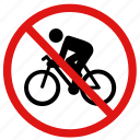 no bicycles, no bikes, no cyclists, no riding icon