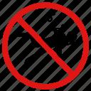 no diving, no scuba diving, no swimming, no underwater icon