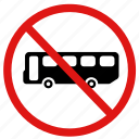 ban, no bus, no bus stop, no buses, no transportation icon