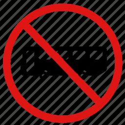 ban, no bus, no bus stop, no buses, no transportation icon