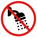 no, showers, no showers, no using water icon