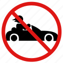 ban, no, no cars, no racing, prohibit, speeding icon