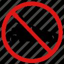 prohibit, no, no cars, no racing, speeding, ban
