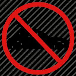ban, no, no cars, no racing, prohibit, speeding icon