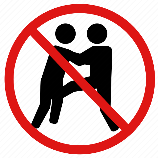 ban, fight, no fighting, prohibition, violence icon
