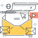 email, envelope, letter, mailing, message, note, web