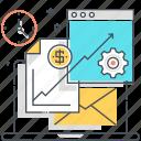 analytics, computer, economy, finance and data, mail, report, statistics