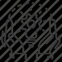 bulb, concept, gear, hands icon