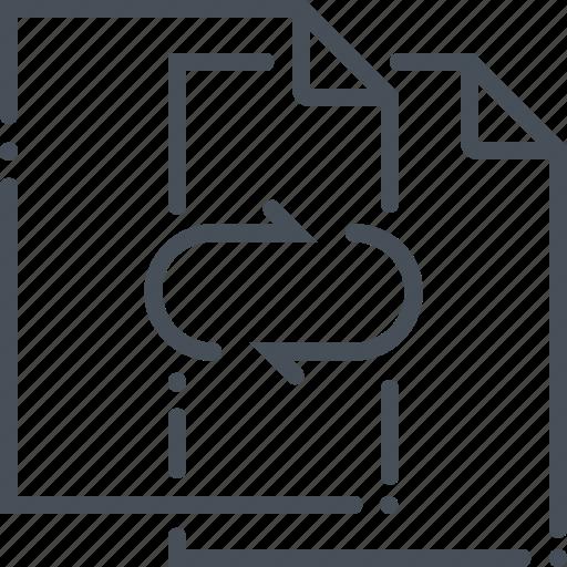 communication, copy, data, exchange, file, transfer, upload icon