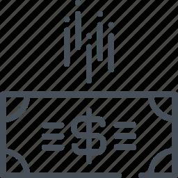 budget, cost, cut, cuts, money, public, spending icon