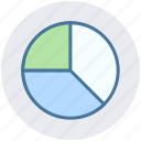 business, finance, money, pie chart, presentation icon