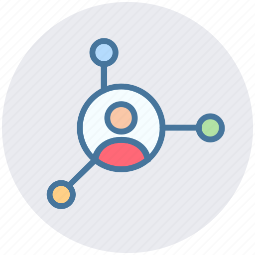 business contacts, community, network connections, project management, social group, web links icon