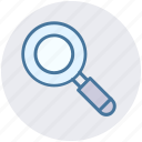 finding, magnifier, magnifying glass, search, searching tool, zoom icon