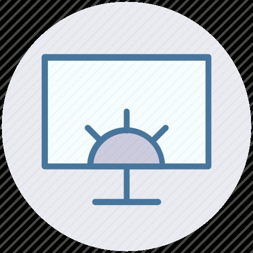 cog wheel, computer setting, lcd, screen, setting icon