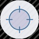 arrow, focus, gun target, target icon