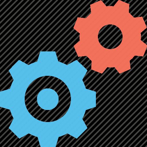 cogs, cogwheel, gear, maintenance, repair icon